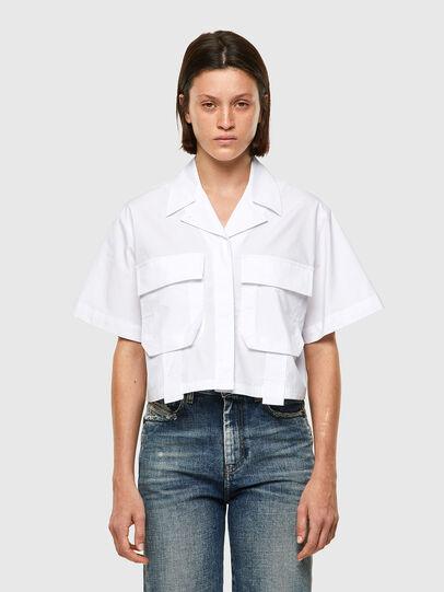 Diesel - C-ADARA-A, Bianco - Camicie - Image 1