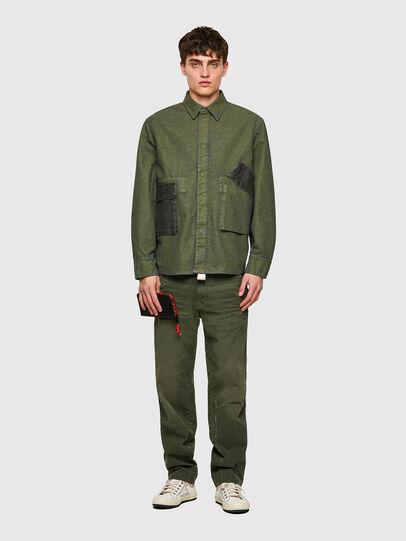 Diesel - D-CORU-SP, Verde Militare - Camicie in Denim - Image 5