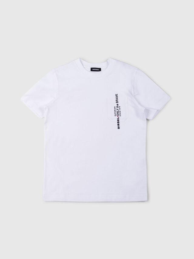 Diesel - TJUSTPOCK, Bianco - T-shirts e Tops - Image 1