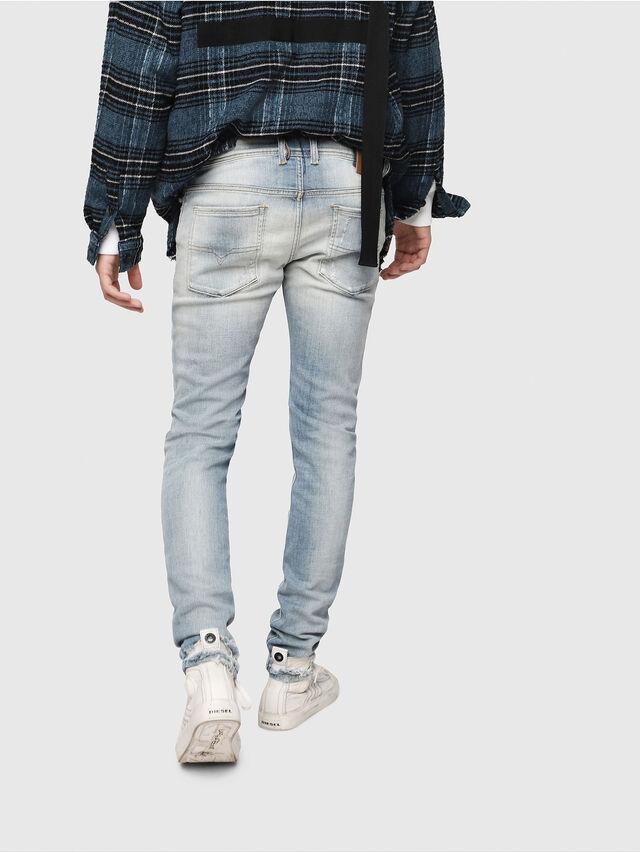 Diesel - Sleenker 081AJ, Blu Chiaro - Jeans - Image 2