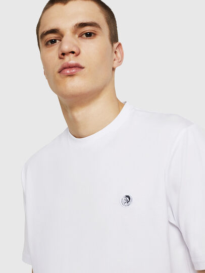 Diesel - T-JUSTY, Bianco - T-Shirts - Image 6