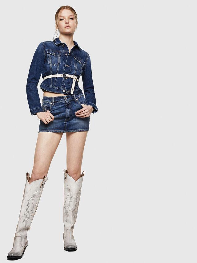 Diesel - DE-EISY, Blu Jeans - Gonne - Image 6