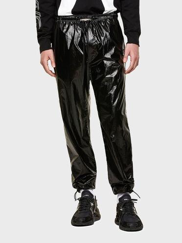 Pantaloni in nylon con applicazioni staccabili