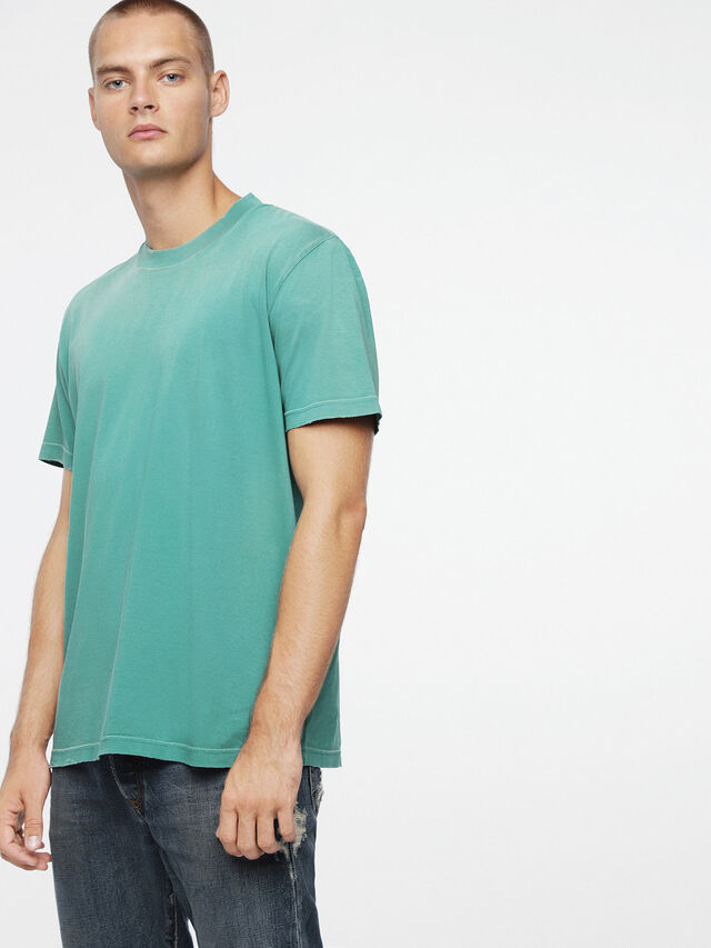 Diesel - T-JOEY-T, Verde Acqua - T-Shirts - Image 1