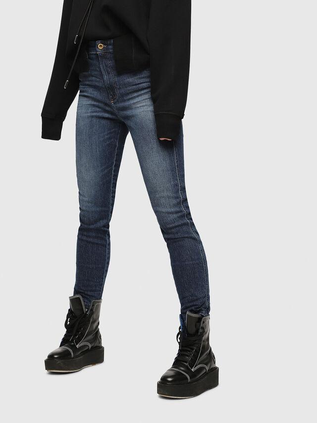Diesel - Babhila High 089AH, Blu Scuro - Jeans - Image 1