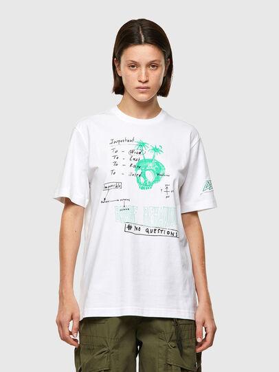 Diesel - T-JUST-B61, Bianco - T-Shirts - Image 2