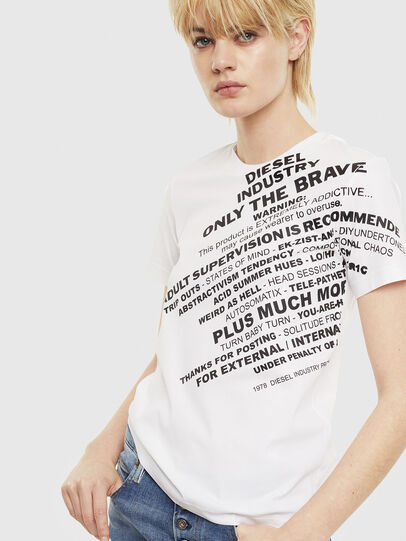 Diesel - T-SILY-S1, Bianco - T-Shirts - Image 1