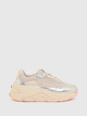 Sneaker con finiture metallizzate
