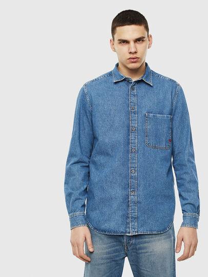 Diesel - D-BER-P, Blu Jeans - Camicie in Denim - Image 1