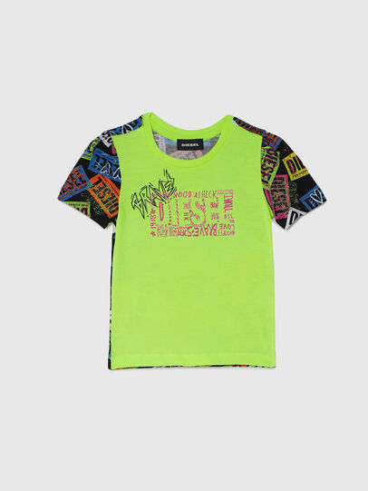 Diesel - TAIRB-R, Verde/Nero - T-shirts e Tops - Image 1