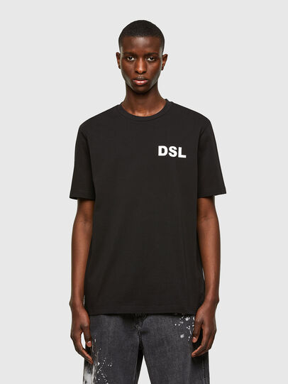 Diesel - T-JUST-E10, Nero - T-Shirts - Image 1