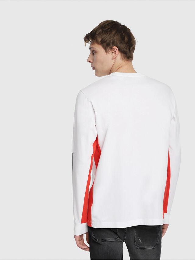 Diesel - T-HARUS-LS, Bianco - T-Shirts - Image 2