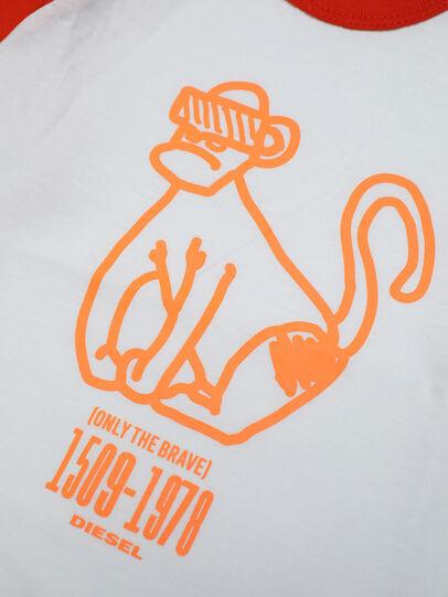 Diesel - TBALYB, Bianco/Arancione - T-shirts e Tops - Image 3
