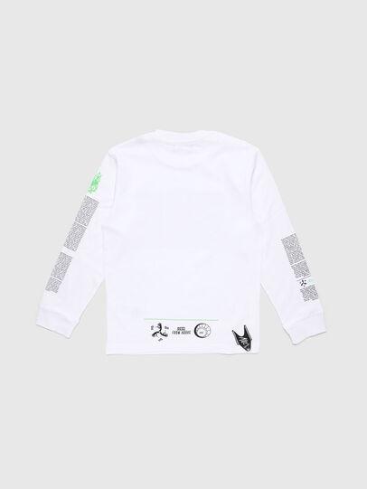 Diesel - TJUSTLS-NEW, Bianco - T-shirts e Tops - Image 2