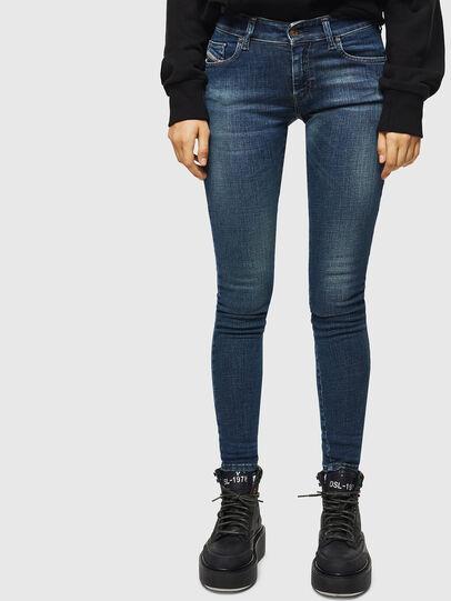 Diesel - Slandy Low 069KW, Blu Scuro - Jeans - Image 1