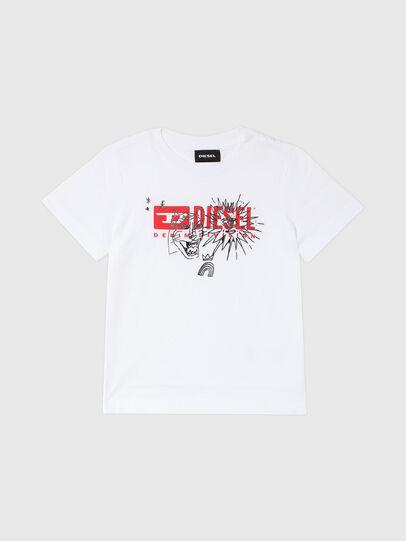 Diesel - TUDARIB-R, Bianco - T-shirts e Tops - Image 1