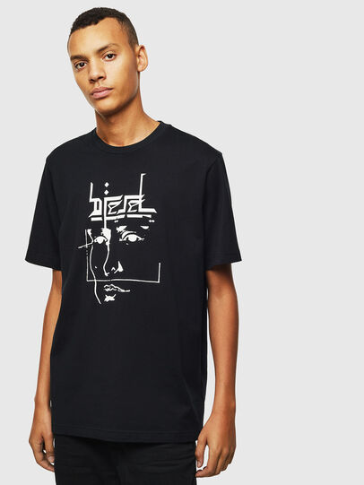 Diesel - T-JUST-J14, Nero - T-Shirts - Image 1