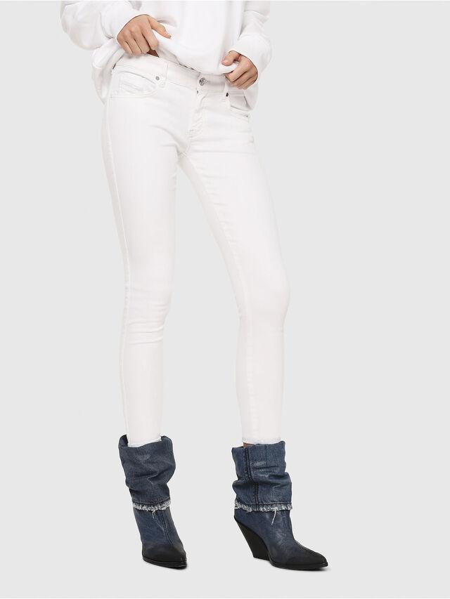 Diesel - Slandy Low 086AC, Bianco - Jeans - Image 1