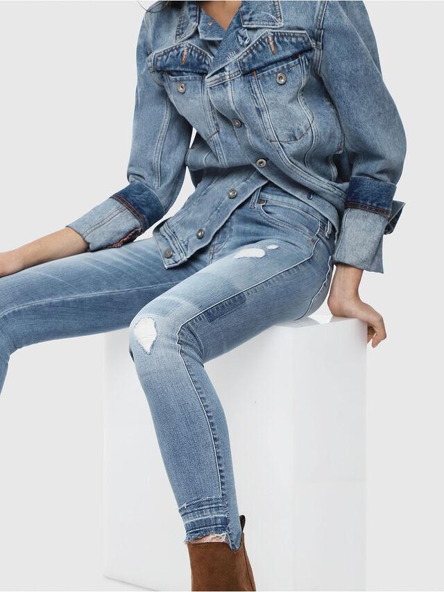 Diesel - Slandy Low 086AH, Blu Chiaro - Jeans - Image 4