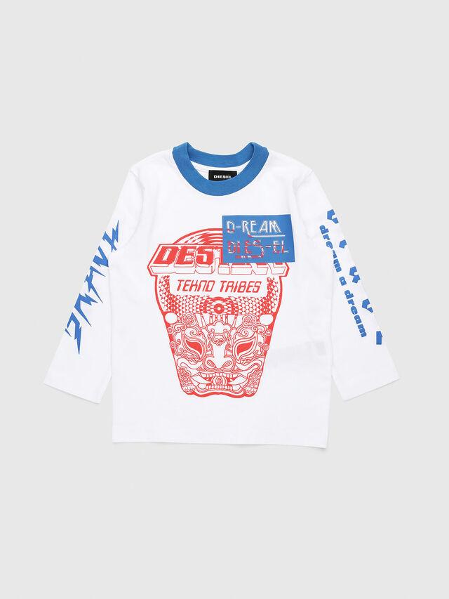 Diesel - TENNUB-R, Bianco/Rosso/Blu - T-shirts e Tops - Image 1