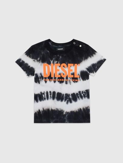 Diesel - TAREZB, Nero/Bianco - T-shirts e Tops - Image 1
