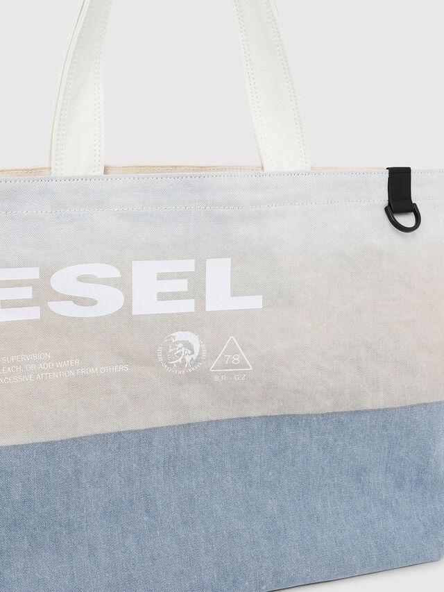 Diesel - D-THISBAG SHOPPER L, Bianco/Blu - Shopper e Borse a Spalla - Image 3