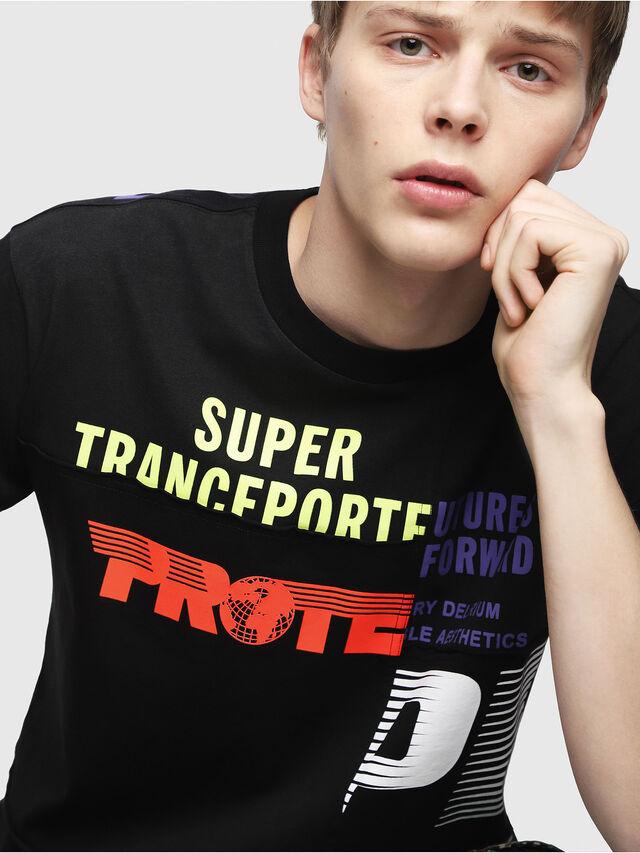 Diesel - T-WALLACE-CUT, Nero - T-Shirts - Image 4