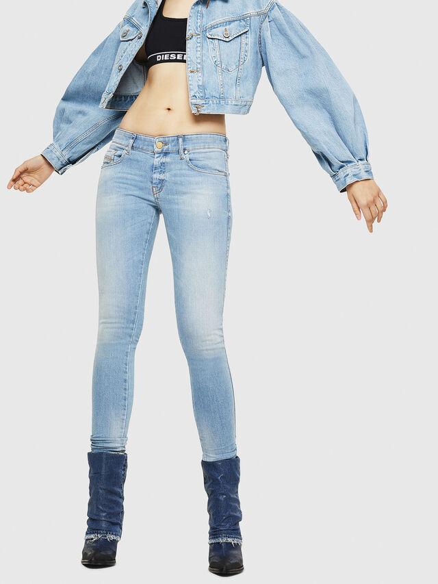 Diesel - Slandy Low 086AA, Blu Chiaro - Jeans - Image 1