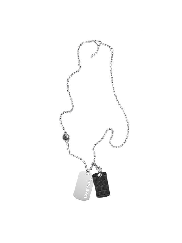Diesel - NECKLACE DX1014, Argento - Collane - Image 1