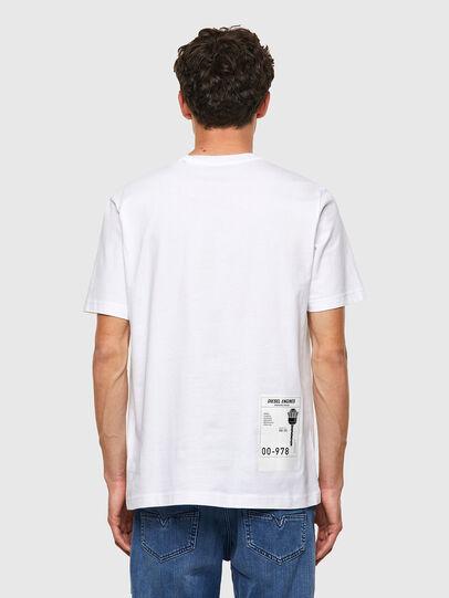 Diesel - T-JUST-B62, Bianco - T-Shirts - Image 2