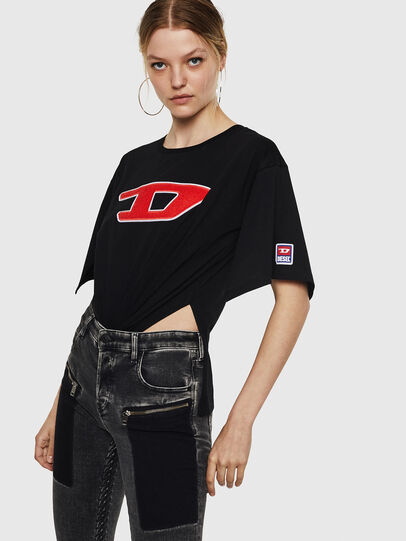 Diesel - T-JACKY-I, Nero - T-Shirts - Image 3