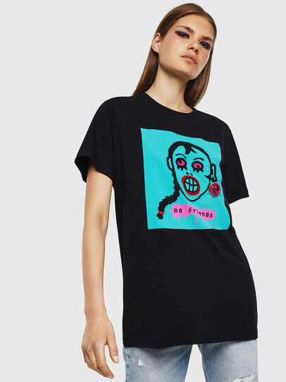 Diesel - T-DARIA-K, Nero - T-Shirts - Image 1