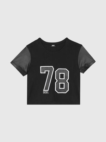 Diesel - UFTEE-ROUNDIE-SAT, Nero - T-Shirts - Image 1