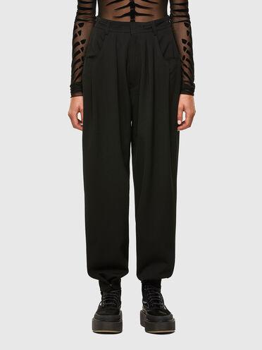 Pantaloni in fresco lana con taglio a vivo