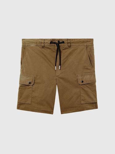 Shorts cargo tinti in capo