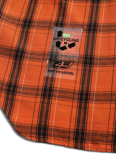 Diesel - D-ANORACHECK, Arancione - Camicie - Image 4