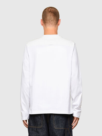Diesel - T-TASK-LS, Bianco - T-Shirts - Image 2