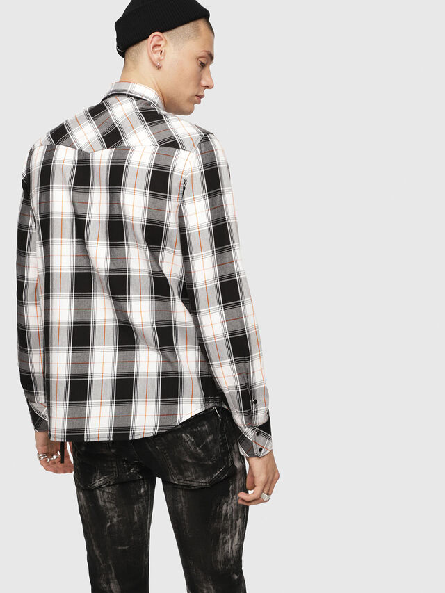 Diesel - S-EAST-LONG-E, Bianco/Nero - Camicie - Image 2