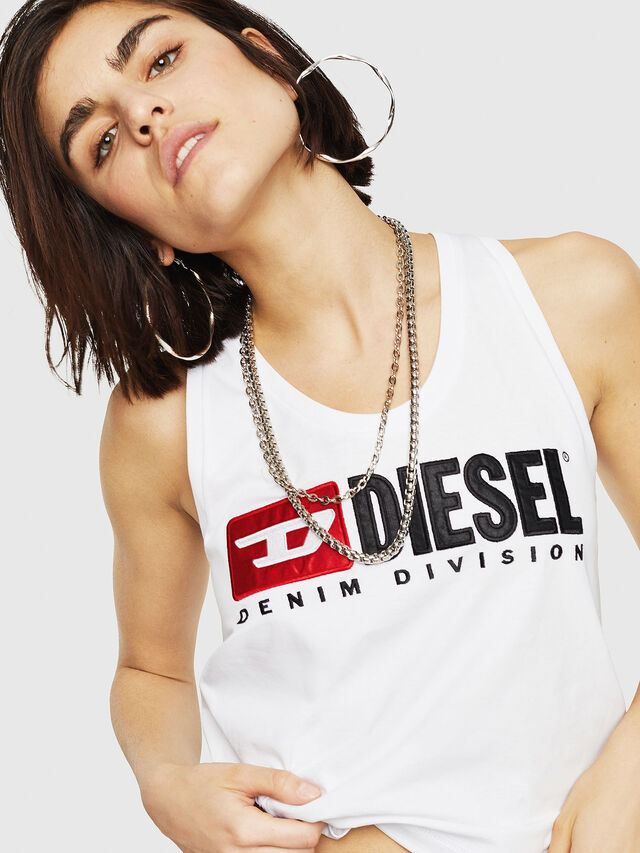 Diesel - T-SYLKY, Bianco - Tops - Image 1