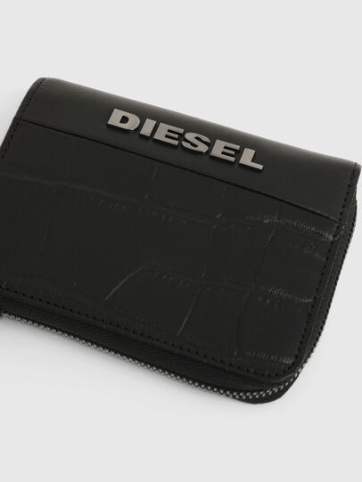 Diesel - L-12 ZIP, Nero - Portafogli Con Zip - Image 4