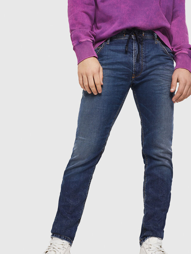 Diesel - Krooley JoggJeans 069FG, Blu medio - Jeans - Image 4