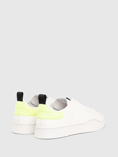 Diesel - S-CLEVER LS, Bianco/Giallo - Sneakers - Image 3