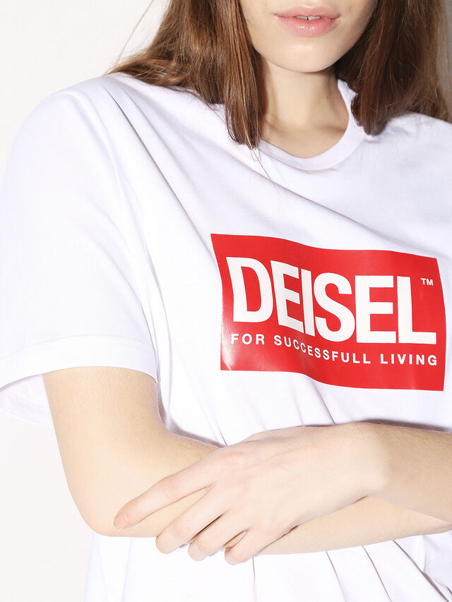 Diesel - DEIS-JUST, Bianco - T-Shirts - Image 8