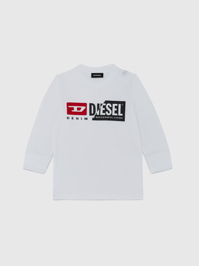 Diesel - TDIEGOCUTYB ML-R, Bianco - T-shirts e Tops - Image 1