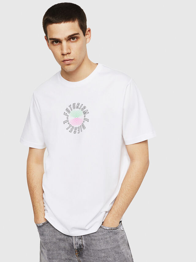 Diesel - T-JUST-Y19, Bianco - T-Shirts - Image 1
