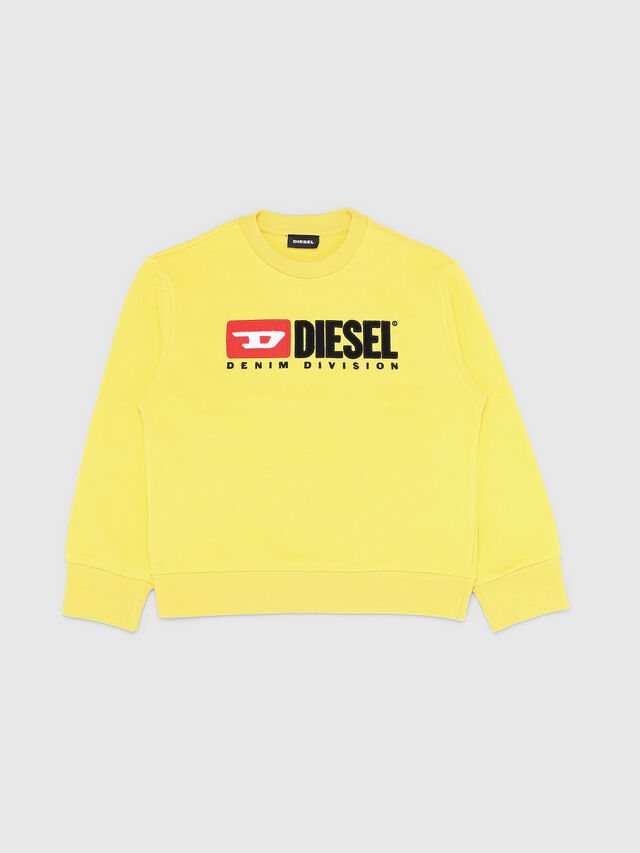 Diesel - SCREWDIVISION OVER, Giallo - Felpe - Image 1
