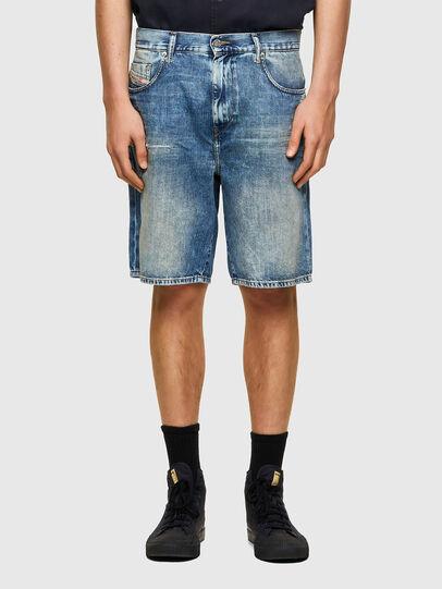 Diesel - D-STRUKT-SHORT, Blu Chiaro - Shorts - Image 1