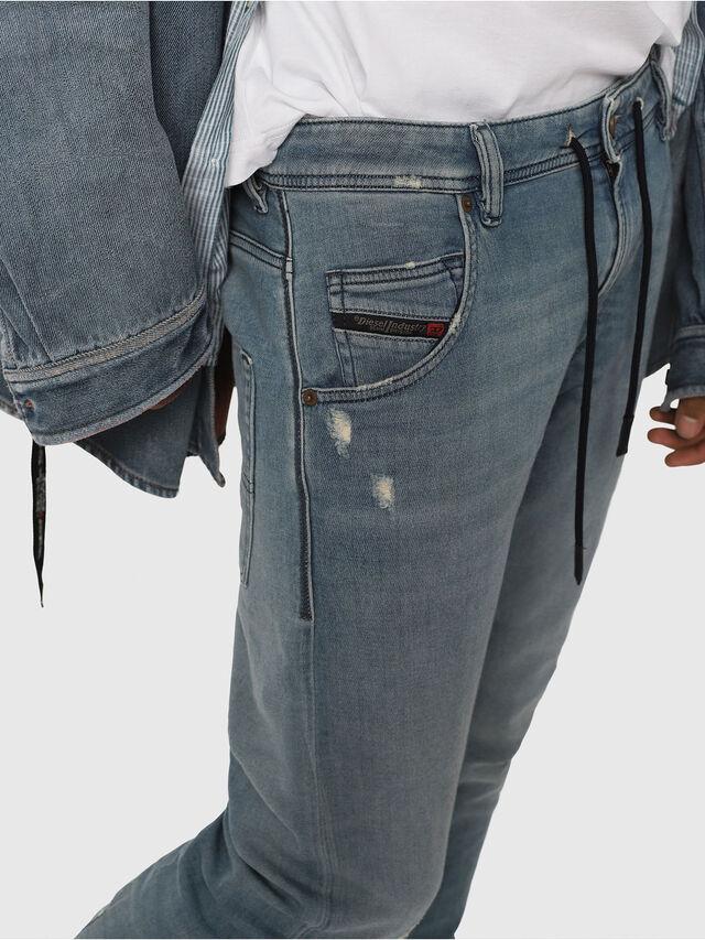 Diesel - Krooley JoggJeans 086AY, Blu Chiaro - Jeans - Image 4