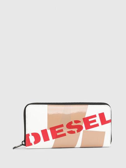 Diesel - 24 ZIP, Bianco/Rosso - Portafogli Con Zip - Image 1