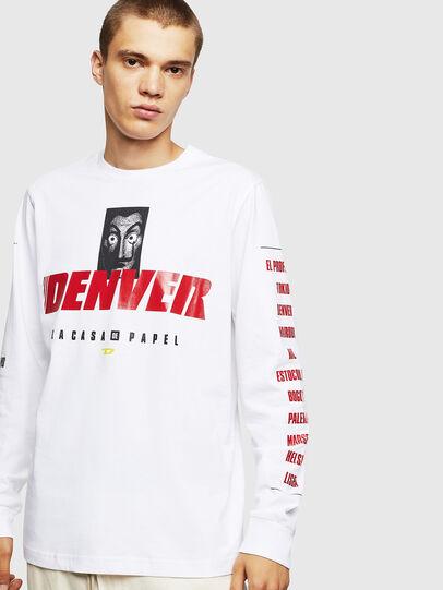 Diesel - LCP-T-JUST-LS-DENVER, Bianco - T-Shirts - Image 1